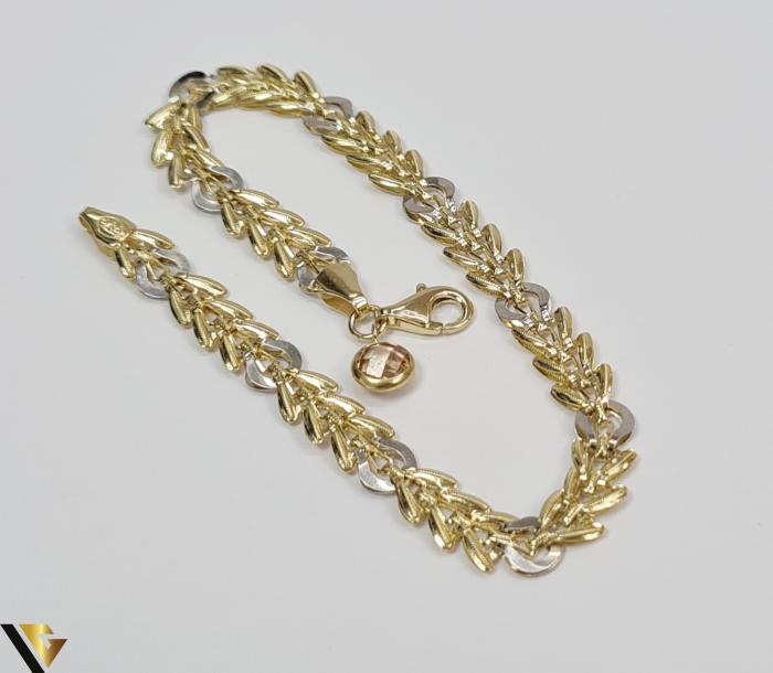 """Bratara din aur 14k, 585 3.70 grame Latime de 5.5 mm Lungime totala de 19 cm Marcaj cu titlul """"585"""" Locatie HARLAU 1"""