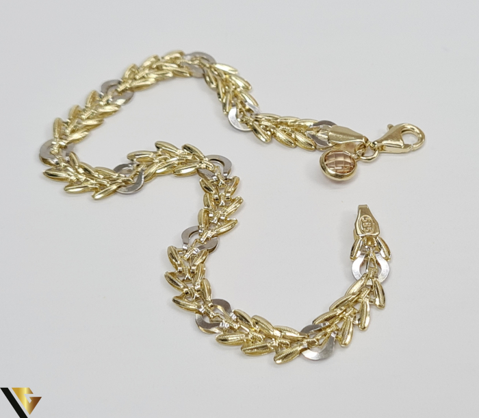 """Bratara din aur 14k, 585 3.70 grame Latime de 5.5 mm Lungime totala de 19 cm Marcaj cu titlul """"585"""" Locatie HARLAU 2"""