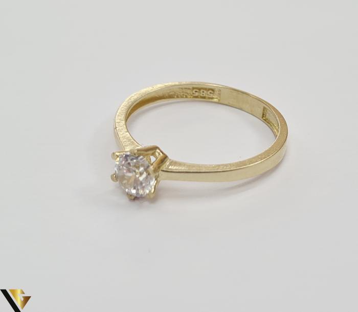 """Inel din aur 14k, 585 1.72 grame Latime inelului la partea superioara este de 5.5 mm Diametrul inelului este de 18 mm Masura standard RO: 56 si UE: 16 Marcaj cu titlul """"585"""" Locatie Harlau 1"""