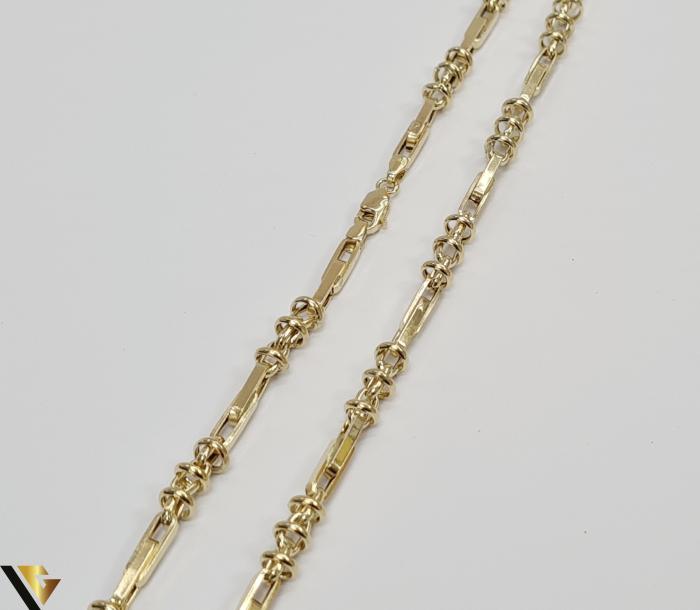 """Lant din aur 14k, 585 12.00 grame Lungime de 56 cm Latime de 5.0 mm Marcaj cu titlul """"585"""" Locatie HARLAU [2]"""