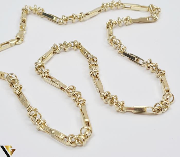 """Lant din aur 14k, 585 12.00 grame Lungime de 56 cm Latime de 5.0 mm Marcaj cu titlul """"585"""" Locatie HARLAU [3]"""