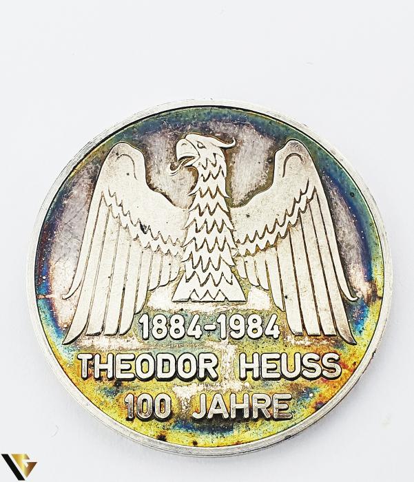 Placheta Argint 1000, 1984, Theodor Heuss, 24.35 grame (P) [0]