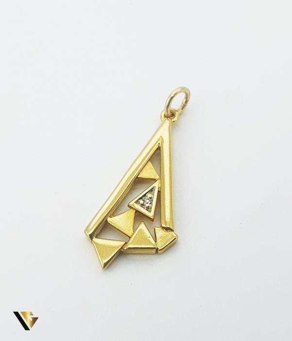 Pandant Aur 18k, Diamant de cca. 0.005 ct, 1.74 grame (P) [0]