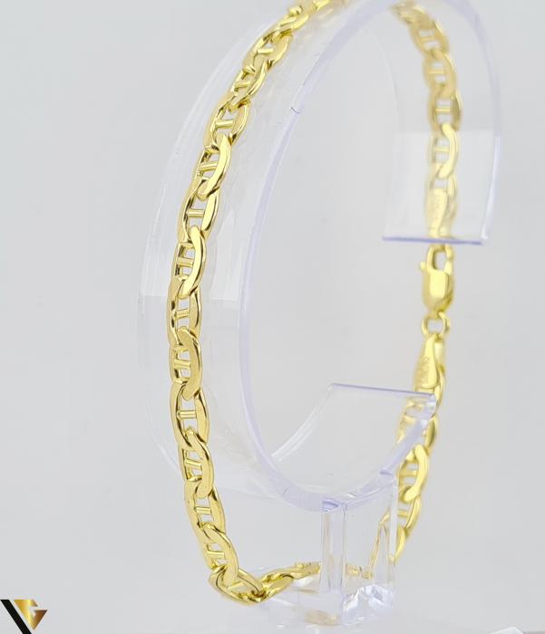 """Bratara din aur 14k, 585 4.77 grame Latime de 4.2 mm Lungime totala de 20 cm Marcaj cu titlul """"585"""" Locatie HARLAU [0]"""