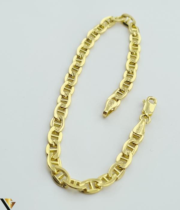 """Bratara din aur 14k, 585 4.77 grame Latime de 4.2 mm Lungime totala de 20 cm Marcaj cu titlul """"585"""" Locatie HARLAU [2]"""