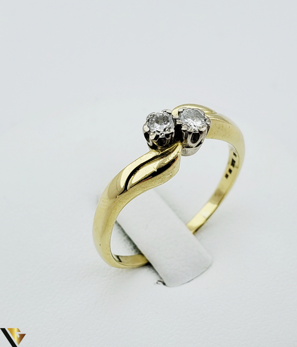 Inel aur 18 k, Diamante cca 0.20 ct in total, 4.17 gr (R) [0]