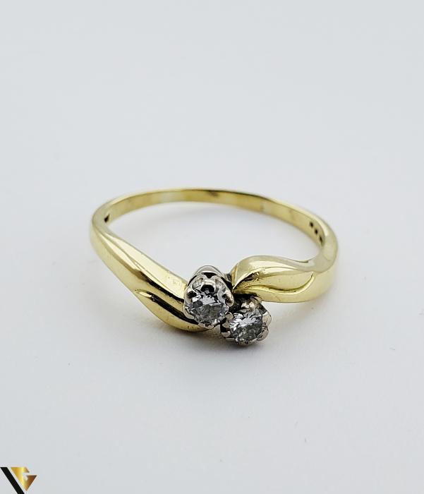 Inel aur 18 k, Diamante cca 0.20 ct in total, 4.17 gr (R) [2]