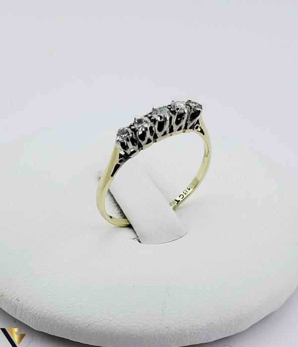 Inel aur 14 k, Diamante cca 0.18 ct in total, 1.11 gr (SED) [0]