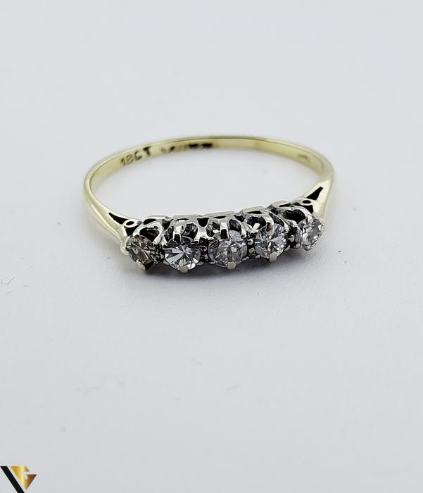 Inel aur 14 k, Diamante cca 0.18 ct in total, 1.11 gr (SED) [2]