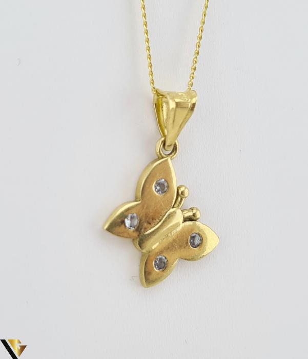 Pandantiv din aur 14k, 585 1.09 grame Lungimea pandantivului cu anou este de 20 mm Latimea pandantivului este de 10mm Locatie HARLAU [0]