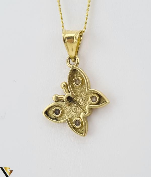 Pandantiv din aur 14k, 585 1.09 grame Lungimea pandantivului cu anou este de 20 mm Latimea pandantivului este de 10mm Locatie HARLAU [2]