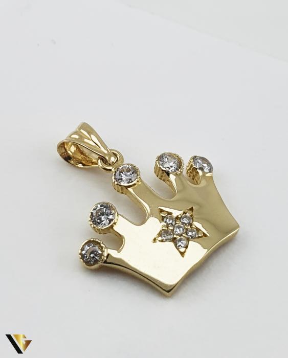 Pandantiv Aur 14K, 1.18 grame (R) coroana queen regina printesa [0]