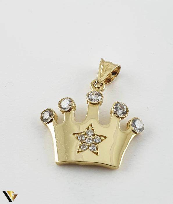 Pandantiv Aur 14K, 1.18 grame (R) coroana queen regina printesa [1]