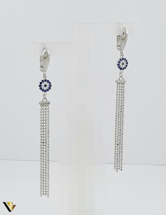 Cercei argint 925, 5.21 grame (R) lungi lant floare [0]
