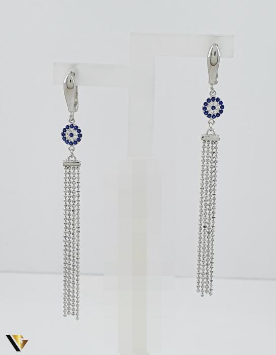 Cercei argint 925, 5.21 grame (R) lungi lant floare [1]