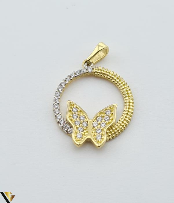 Pandantiv din aur 14k, 585 1.98 grame Lungimea pandantivului cu anou este de 25.5 mm Latimea pandantivului este de 16.5mm Locatie HARLAU [0]