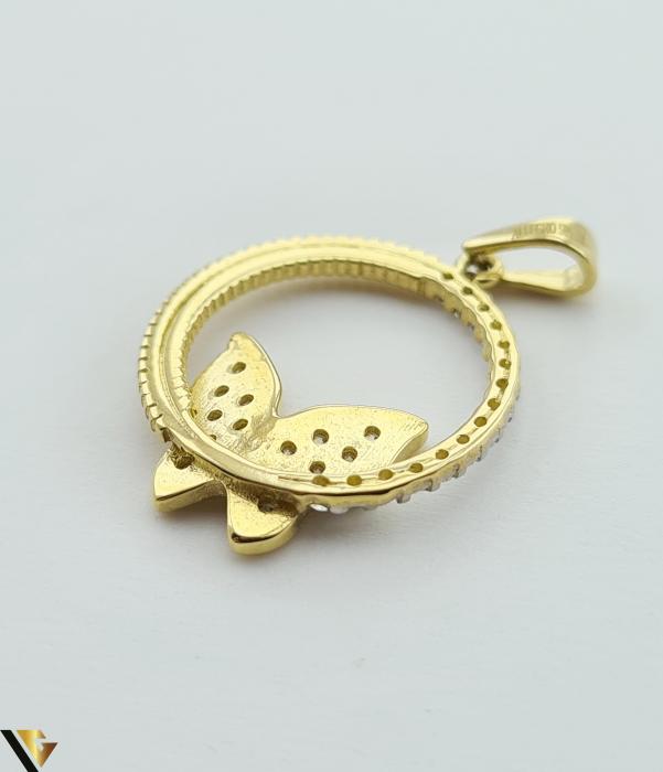 Pandantiv din aur 14k, 585 1.98 grame Lungimea pandantivului cu anou este de 25.5 mm Latimea pandantivului este de 16.5mm Locatie HARLAU [2]