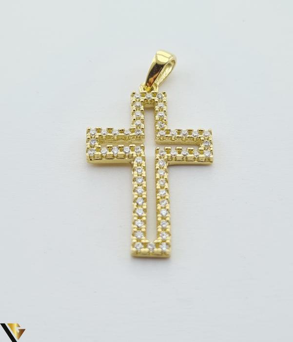 Pandantiv din aur 14k, 585 1.38 grame Lungimea pandantivului cu anou este de 26.5 mm Latimea pandantivului este de 14mm Locatie HARLAU [0]