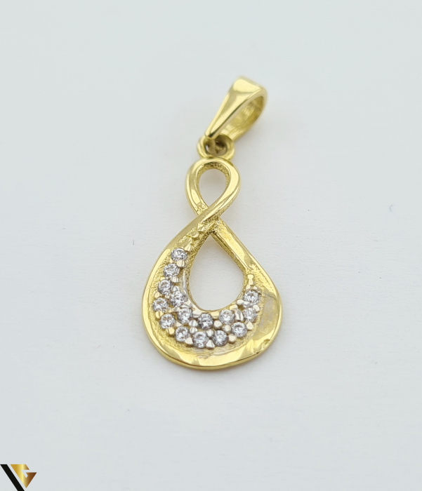 Pandantiv din aur 14k, 585 0.83 grame Lungimea pandantivului cu anou este de 23 mm Latimea pandantivului este de 8.5mm Locatie HARLAU [0]