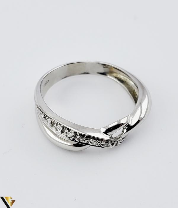 Inel Aur Alb 18k, Diamante de cca. 0.05 ct, 3.33 grame (sed) [2]