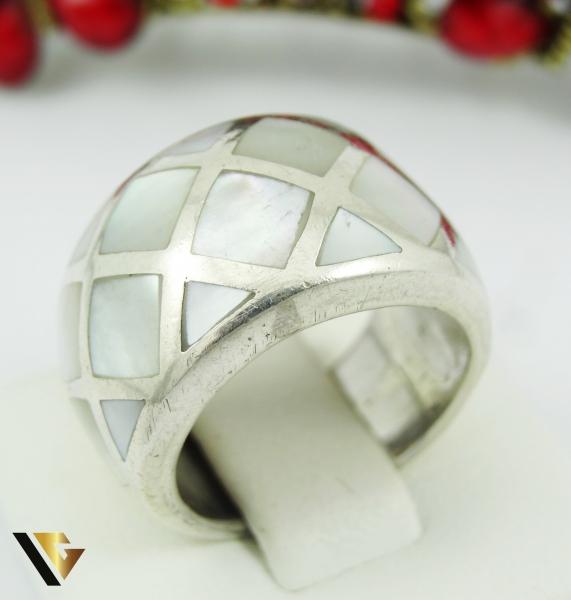 Inel cu sidef, din argint 925, 9.32 grame 0