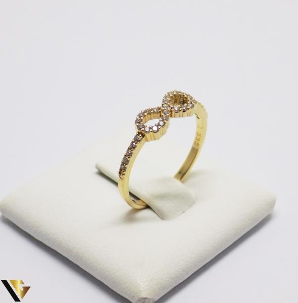 Inel cu Cristale de Zirconiu din Aur 14k, 1.42 Grame [0]