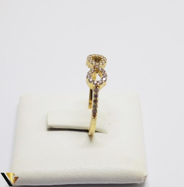 Inel cu Cristale de Zirconiu din Aur 14k, 1.42 Grame [1]