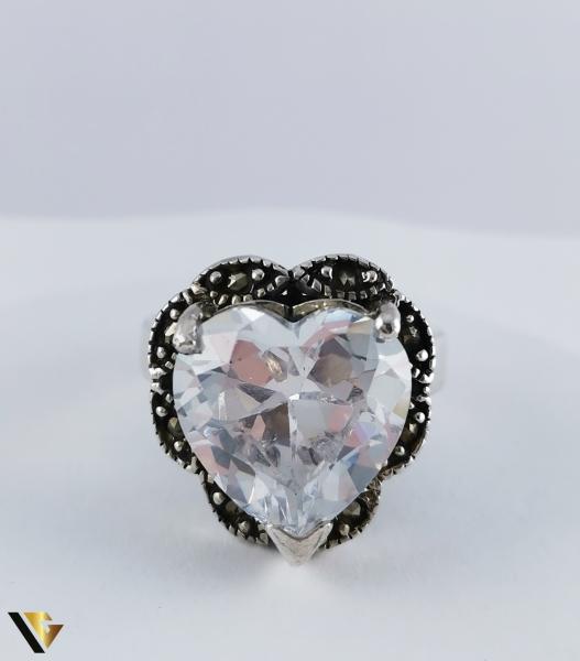Inel Argint 925, Inima, 10.60 grame (R) 2