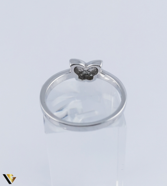 Inel Aur Alb 14k, Diamante de cca. 0.08 ct, 2.95 grame (R) [2]