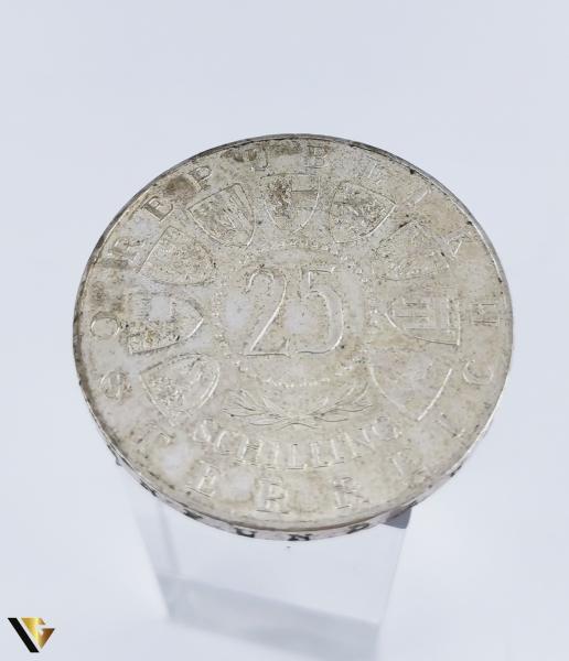 25 Schilling , Austria 1958, Argint 800, 12.85 grame (R) 0