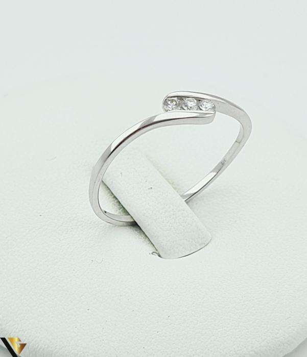 Inel Aur Alb 9k, Diamante de cca. 0.09 ct, 1.06 grame (R) [0]