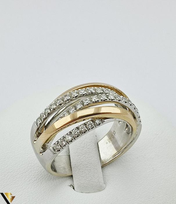 Inel Aur 18k, Diamante de cca. 0.42 ct, 10.06 grame (sed) [0]