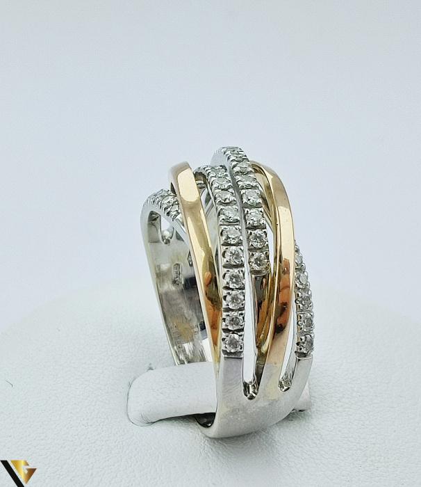Inel Aur 18k, Diamante de cca. 0.42 ct, 10.06 grame (sed) [2]