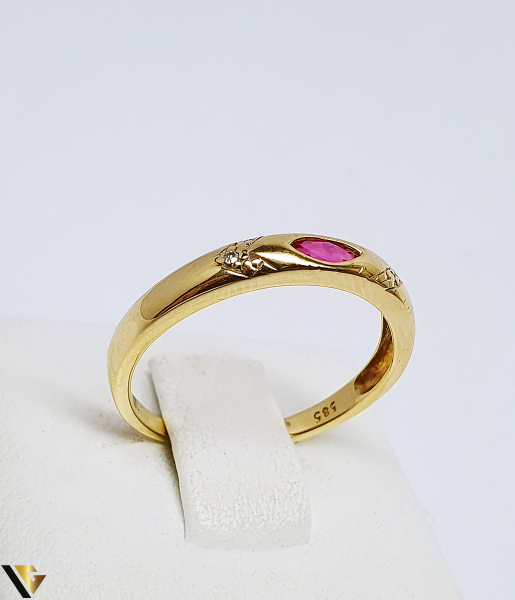 Inel Aur 14K , Diamante cca. 0.01 ct, 2.02 grame (BC R) 0