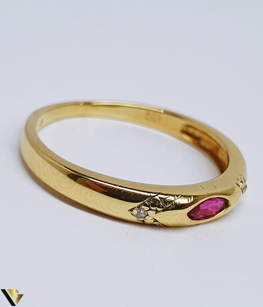 Inel Aur 14K , Diamante cca. 0.01 ct, 2.02 grame (BC R) 1