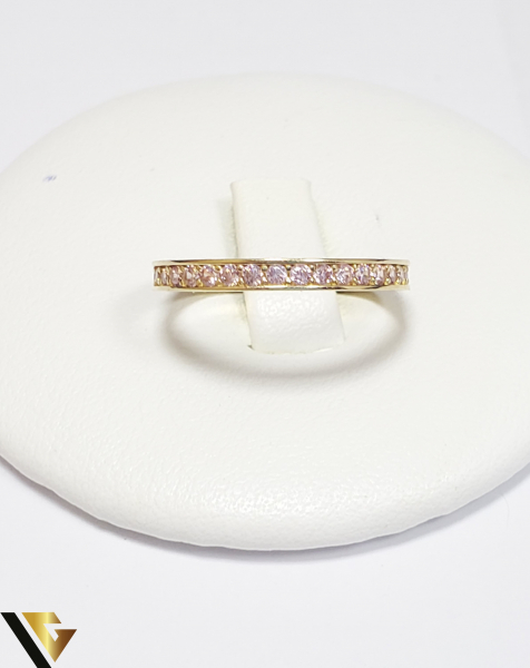 Inel Aur 14K,Cristale din Zirconiu, 1.39 grame (IS) 1