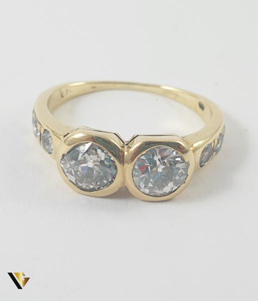 Inel Aur 14k, Diamante de cca 1.60 ct in total, 3.25 grame 2