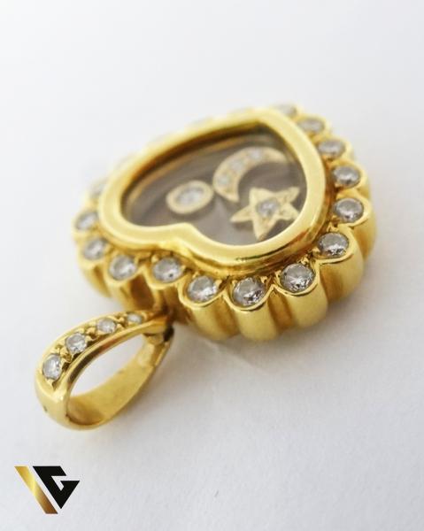 Pandant cu diamante de cca. 0.65 ct, din aur 18k, 9.26 grame 2