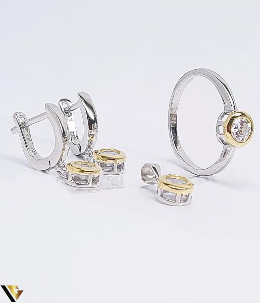 Set argint 925 format din cercei, inel si pandantiv , 6.10 grame (BC R) 1
