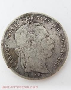 1 Forint, Ferencz Josef, Ungaria, 1879, argint 900, 12.08 grame0