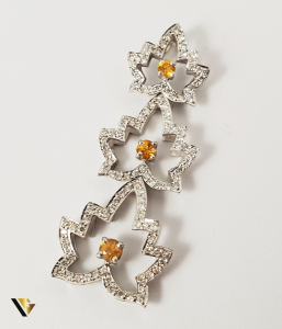 Pandantiv Aur 18k, Diamante cca. 0.59 ct total, 6.11 grame0