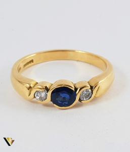 Inel Aur 18k, Diamante de cca. 0.13 ct in total, 3.84 grame (P)2