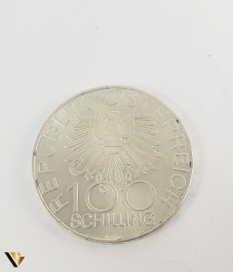 100 Schlling , Austria 1979, Argint 640, 24.08 grame0