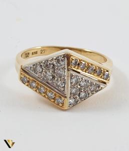 Inel Aur 18k, Diamante de cca. 0.39 ct in total, 3.72 grame1