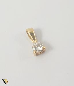 Pandant Aur 18k, Diamant de cca 0.07 ct,0.19 grame0