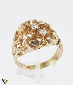 Inel Aur 14k, Diamante de cca. 0.18 ct in total, 9.48 grame0