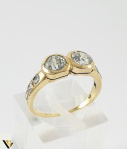 Inel Aur 14k, Diamante de cca 1.60 ct in total, 3.25 grame0