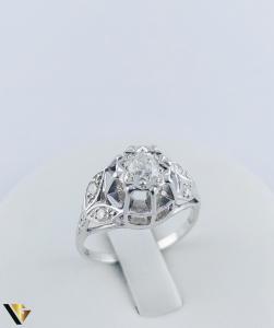 Inel Aur 10k, Diamant de cca. 0.30 ct, 3.86 grame0