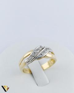 Inel Aur 18k, Diamante de cca. 0.15 ct in total, 3.64 grame0