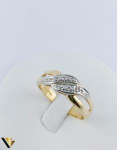 Inel Aur 18k, Diamante de cca. 0.15 ct in total, 3.64 grame (TG)2